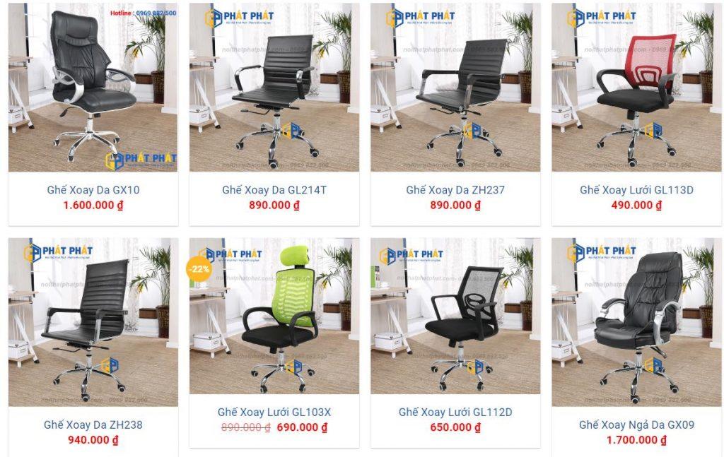 Địa chỉ bán ghế xoay văn phòng tại Hà Nội